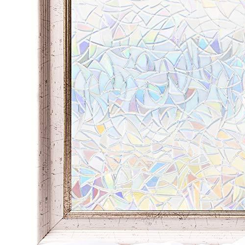 CottonColors Film Adhésif Décoratif pour Fenêtre Vitrage 3D Statique Autocollant Anti-Regards Protection d'Intimité Accueil Cuisine Bureau Chambre Salle de Bains 90CMx200CM