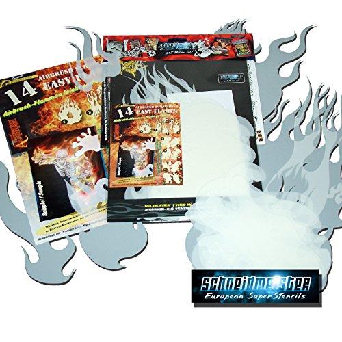 schneidmeister-ez-flames-vol01-14-piezas-juego-de-plantillas-para-aerografo-diseno-de-llamas