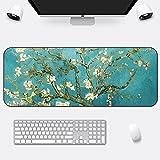 DS-L groß - mousepad erwachsenen männlichen verlängerung verdickung schreibtisch pad mousepad chinesische malerei - stil,Van Gogh Apricot blumen