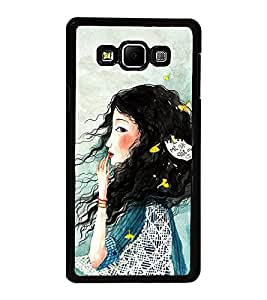 Fuson Premium 2D Back Case Cover Cute hairy girl With Purple Background Degined For Samsung Galaxy A8::Samsung Galaxy A8 A800F