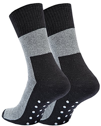 4 paia calze antiscivolo antiscivolo suola per donna e uomo
