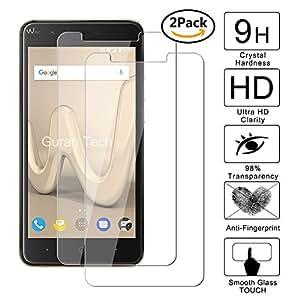 [2 Pack] Guran® Pellicola Protettiva ultra Resistente in Vetro Temperato per Wiko Harry Smartphone Ultra Sottile Screen Protector Film