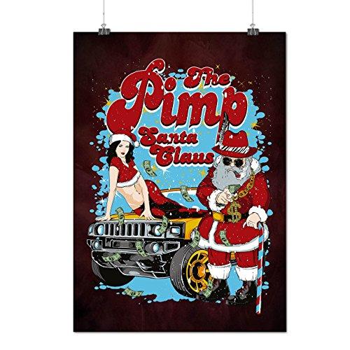 Weihnachtsmann Claus Heiß Mattes/Glänzende Plakat A4 (30cm x 21cm) | (Andere Mutter Kostüm Ideen)
