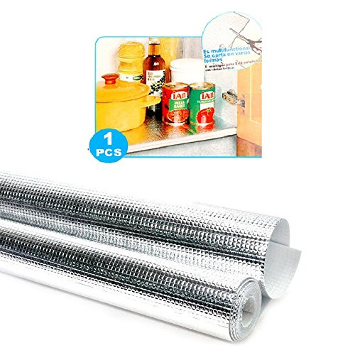 1 Pc Multipurpose Easy to Cut Cupboard Shelf Drawer Aluminum Sheet Roll – Size: 45 x 200 cm.
