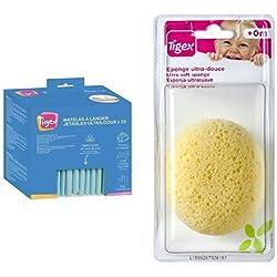 Tigex 80890172 - Cambiador desechable + Tigex 80600717 - Esponja hidrófila para bebés