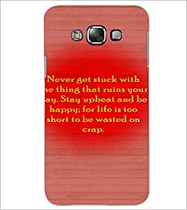 PrintDhaba Quote D-3274 Back Case Cover for SAMSUNG GALAXY A8 (Multi-Coloured)