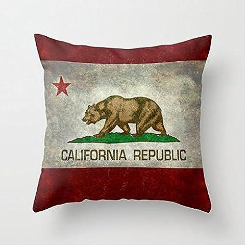 Busy Deals New California Republic State Drapeau Taie d'oreiller Décoration de la Maison Taie d'oreiller couvertures