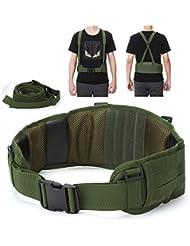 yahill® sans ceinture tactique Molle De Sécurité unique réglable avec sangle pour équipement et sports d'extérieur (CP)