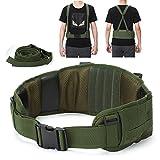 YAHILL Molle Cinturón Táctico Ajustable Militar de Seguridad Equipo de Pistolas de Aire Sísmicas de Combate con Correa Gratis por Deporte al Aire Libre(Verde del ejército)