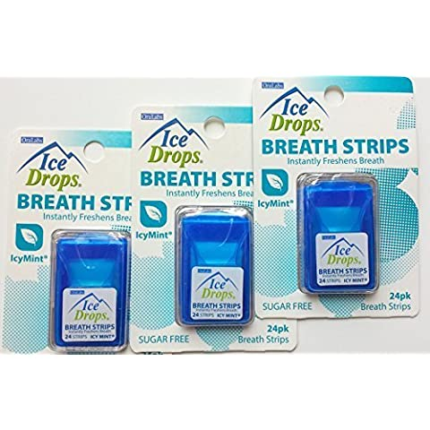 3 Pack - Ice Drops Breath Strips with Blast of