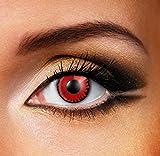 Funky Vision Kontaktlinsen - 12 Monatslinsen, Twilight Volturi Vampire, Ohne Sehstärke, 1 Stück