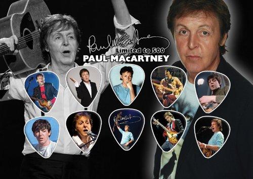 Paul McCartney Beatles Signed Autograph Guitar Plektron Display (Limited to 500 Prints)