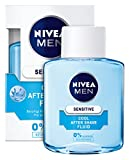 NIVEA Men, 3er Pack Kühlendes After Shave Fluid für Männer, 3 x 100 ml Flasche, Sensitive Cool,...