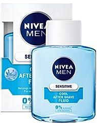 NIVEA Men, 3er Pack Kühlendes After Shave Fluid für Männer, 3 x 100 ml Flasche, Sensitive Cool, 0% Alkohol