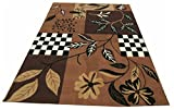 A RAHMAN CARPET MOST PREFER FLORAL MODERN DESIGN COLOR GOLD BROWN  9 x 11  available at Amazon for Rs.6249