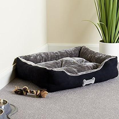 Me & My Black & Grey Large Super Soft Dog Bed 3