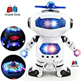 #3: GRAPPLE DEALS Dancing And Musical 3D Robot With 360 Rotation And LED Lights For Smarter Kids.