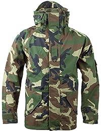 Mil-Tec Men's Wet Weather Trilaminate Jacket Woodland