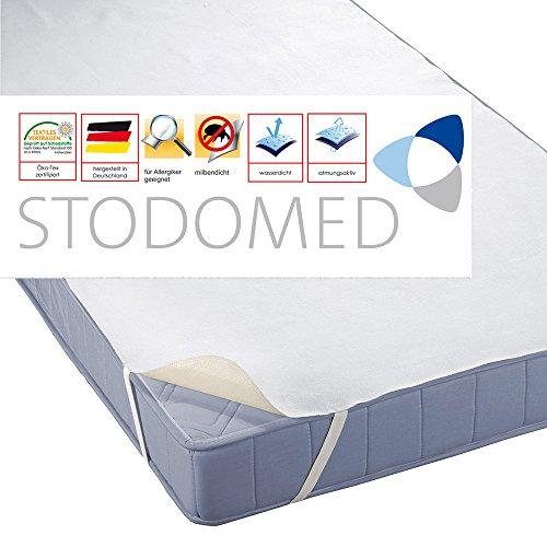 STODOMED Wasserundurchlässige Matratzenauflage 90x200 cm mit Eckgummis Molton Qualität aus Deutschland in Verschiedenen Größen 90x200cm Matratzenschoner