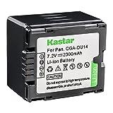 Kastar Battery for Panasonic CGA-DU14 and NV-GS40 GS44 GS47 GS50 GS55 GS57 GS58, PV-GS150 GS180 GS200 GS300 GS320 GS400 GS500, SDR-H250 H280, VDR-D258 D300 D308 D310 D400, VDR-M74 M75 M95 M250
