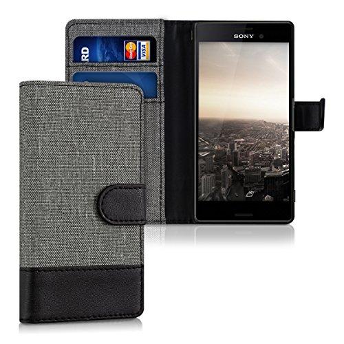 kwmobile Sony Xperia M4 Aqua Hülle - Kunstleder Wallet Case für Sony Xperia M4 Aqua mit Kartenfächern & Stand