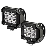 Faros de Trabajo Led,JieHe Luces Trabajo Led LED Light Bar Montaje de luces de antiniebla IP67 Impermeable para Off-Road, Camión,Coche, ATV, SUV, Barco
