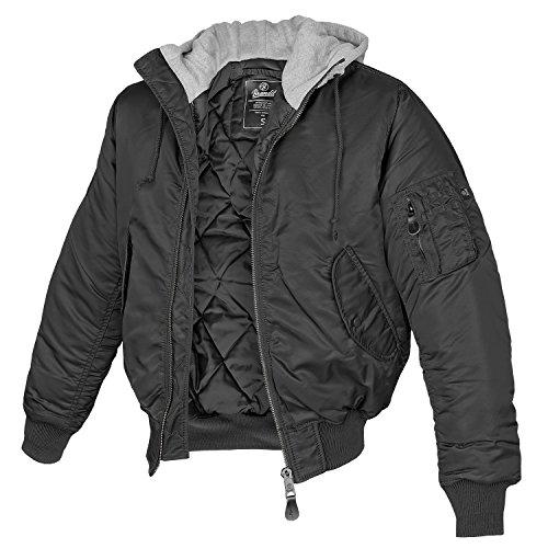 MA-1 Jacke Sweat Hooded schwarz/grau - L