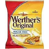 Werther's - Bonbons au beurre - sans sucre - lot de 8 paquets de 80 g