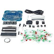 Ils - DIY DS1302 Rotación LED Reloj electrónico del Kit 51 SMC Junta de Aprendizaje