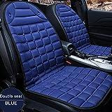 LCHENX-Cuscino Riscaldante per Seggiolino Auto 2 Pezzi,Universale Riscaldato per Cuscino Seggiolino Auto 12V per Guida Fredda E Invernale,Blu
