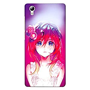 CrazyInk Premium 3D Back Cover for Vivo Y51L - Anime Girl Crying in Rain