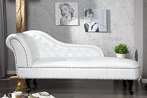 Invicta Interior 10943 Chesterfield Recamiere, weiss