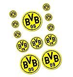 Borussia Dortmund Autoaufkleber / Aufkleber / Sticker 12er Set BVB 09 - plus gratis Aufkleber forever Dortmund