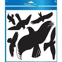 Avery Dennison 4485 - Pegatinas de advertencia para pájaros (28 x 18 cm, 8 x 5 cm, 5 cm, resistentes al agua), color negro
