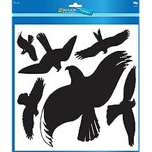 Avery Zweckform 4485 Warnvögel Vögel schwarz (Folie) 6 Aufkleber schwarz