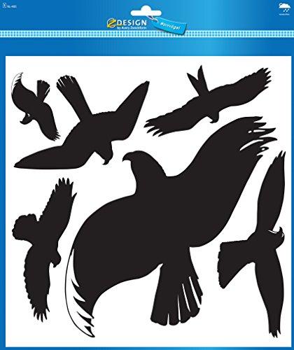 AVERY Zweckform 4485 Warnvögel Vögel schwarz (Folie) 6 Aufkleber schwarz -