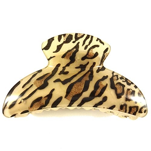 Beige Panther (rougecaramel Haarklammer, bedruckt Panther-Beige)