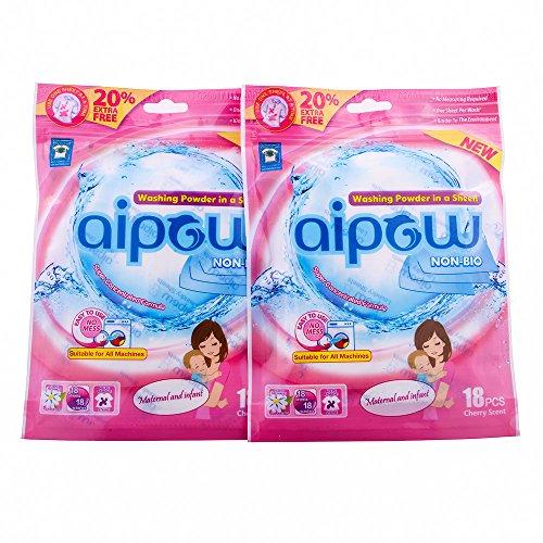 aipow-lavage-vetements-pratique-propre-parfum-lessive-poudre-de-feuilles-mother-and-child-36-pieces