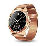 JiaMeng Smartwatches - K88H Plus Smart Watch IOS Android Cardiofrequenzimetro Guarda schermo rotondo IPS Cinturino in maglia smart watch in oro rosa