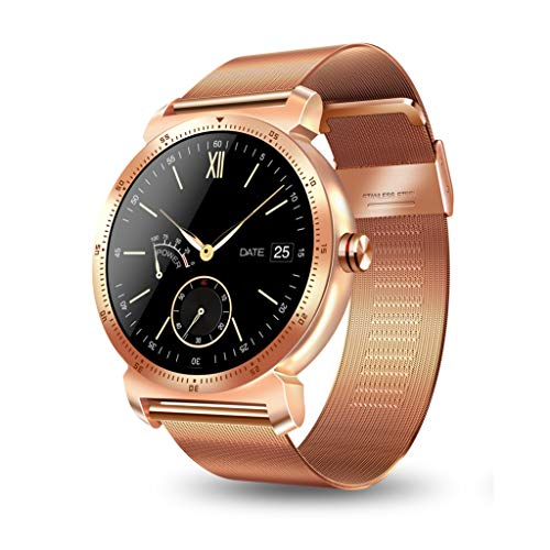 Minshao K88H Plus Bluetooth BLE4.0 Smart Watch with Stainless Steel Band, IP67 Sports Wrist Watch Smartwatch Pedometer Heart Rate Monitor IPS Screen for iOS iPhone Android Samsung Huawei