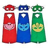 Best Costumes pour toutes les occasions Capes - Pawaca 3 psc Costumes de Super Héros, Super Review