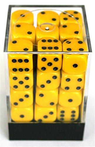 Chessex Opaque Yellow W6 12mm Würfel - Würfel 12mm Gelb In