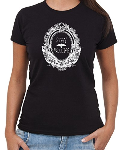 T-Shirt MISS PEREGRINE PECULIAR CHINDREN STAY PECULIAR - by New Indastria Nera