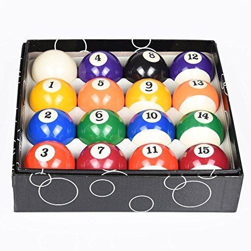 T&R Sprorts Preium Billardkugel-Set - Reguläre Größe 6,3 cm - 16 Pool-Ball-Set