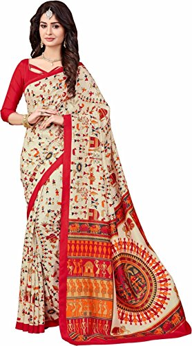 Jashvi Creation Women Clothing Saree For Latest Party Wear Sarees Collection in Georgette Material Latest half and half Saree With Blouse Free Size  available at amazon for Rs.349