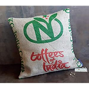 Kaffeesack Kissen Indien.Jute.Mit Füllung