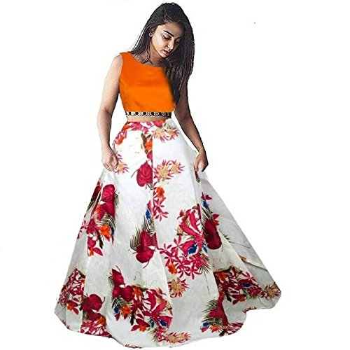 Nplash Fashion Women's flower lehengha choli(free_size_size)