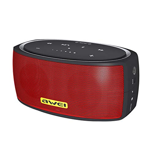 LRWEY Bluetooth Lautsprecher Stereo Subwoofer Dual Lautsprecher NFC Mic Tragbare Lautsprecher für iPhone, Samsung usw.