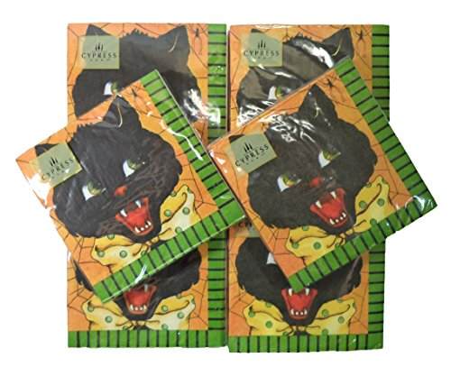 Halloween-Design, 20 Servietten, 6 Stück schwarze katze ()