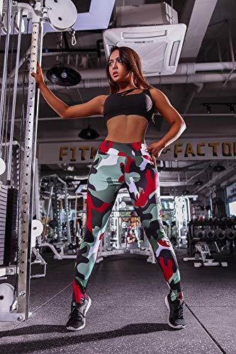Ayujia Camouflage Printed Leggins Sport Frauen Fitness 3 Farben Hüfte Drücken Hohe Taille Sport Leggings Gym Strumpfhosen Ropa Deportiva Mujer (Dama De Deportiva Ropa)